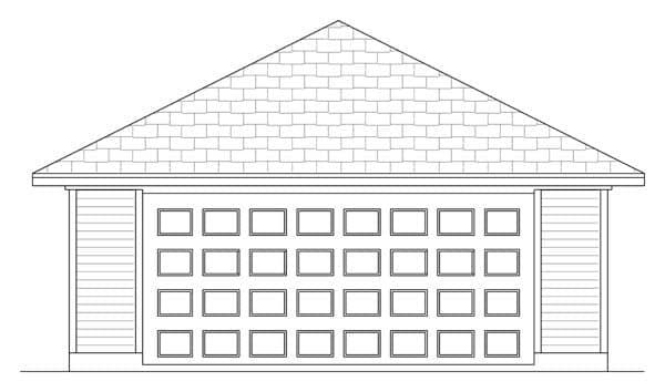 Traditional 2 Car Garage Plan 69904 Elevation