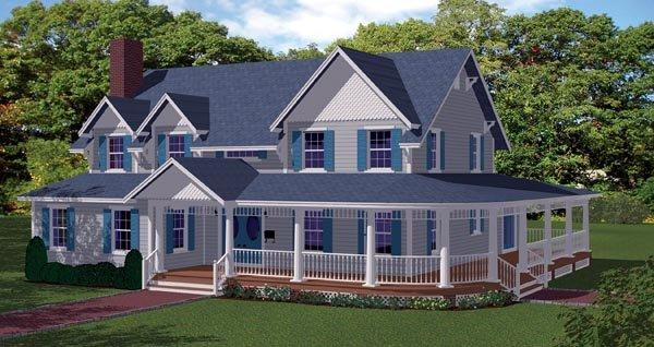 House Plan 71903 with 3 Beds, 5 Baths Elevation