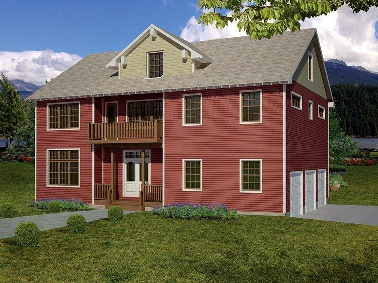 House Plan 71904 with 3 Beds, 3 Baths, 3 Car Garage Elevation