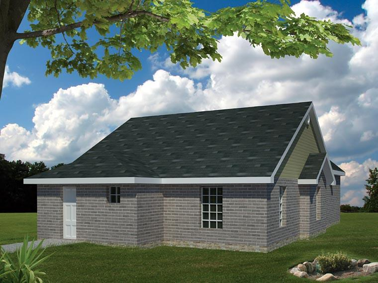 Ranch, Traditional House Plan 71922 with 3 Beds, 3 Baths Rear Elevation