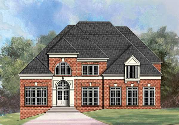 European, Greek Revival House Plan 72070 with 4 Beds, 5 Baths, 3 Car Garage Elevation