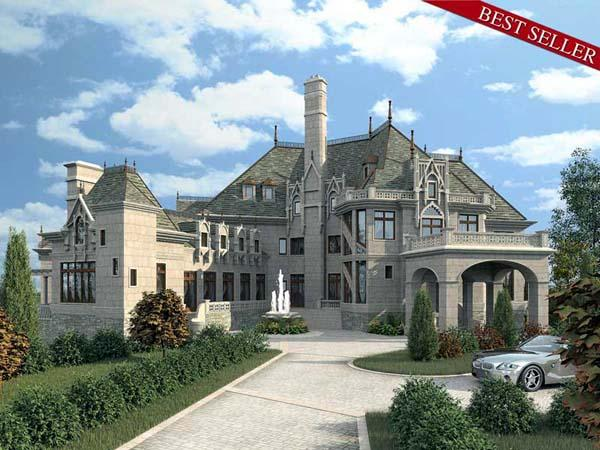 European, Greek Revival House Plan 72130 with 6 Beds, 5 Baths, 4 Car Garage Elevation