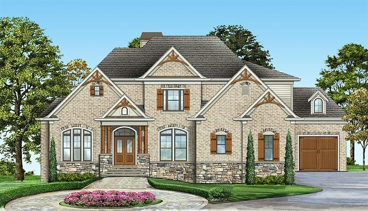 Colonial, Craftsman, European, Southern House Plan 72244 with 4 Beds, 4 Baths, 2 Car Garage Elevation