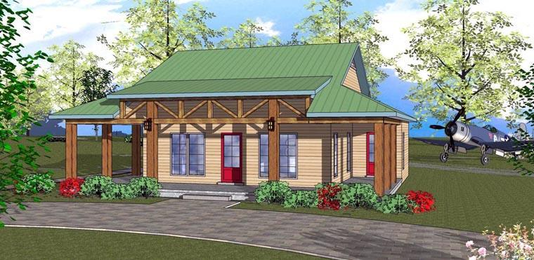 Cottage, Florida, Southern House Plan 72318 with 2 Beds, 2 Baths Elevation