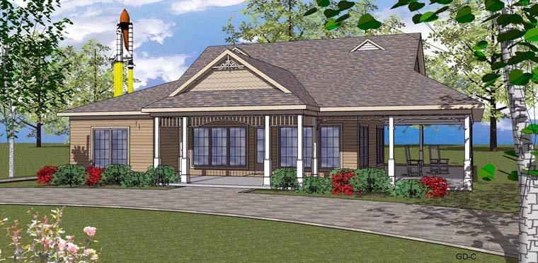 Coastal, Southern House Plan 72356 with 2 Beds, 3 Baths Elevation