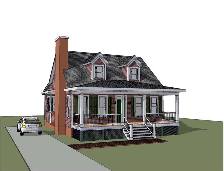 Bungalow House Plan 72750 with 3 Beds, 3 Baths Elevation