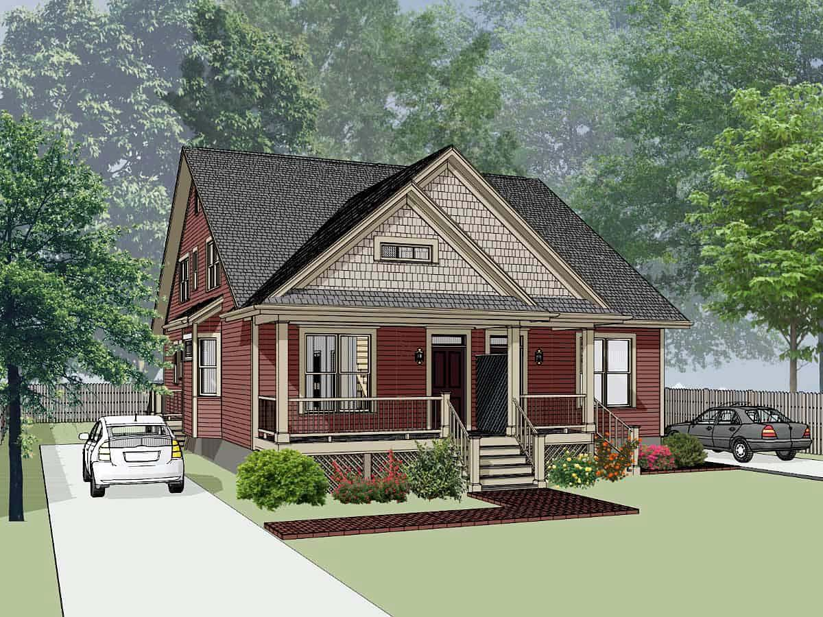 Bungalow Multi-Family Plan 72780 with 6 Beds, 4 Baths Elevation