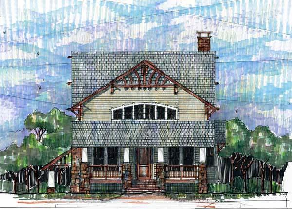 Craftsman, Traditional House Plan 73601 with 4 Beds, 4 Baths Elevation