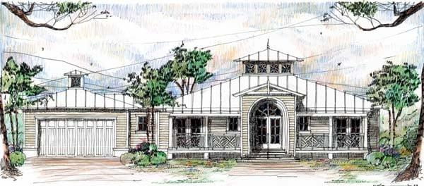 Florida, Ranch House Plan 73613 with 3 Beds, 4 Baths, 2 Car Garage Elevation