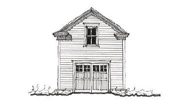 Historic 1 Car Garage Apartment Plan 73769 Elevation