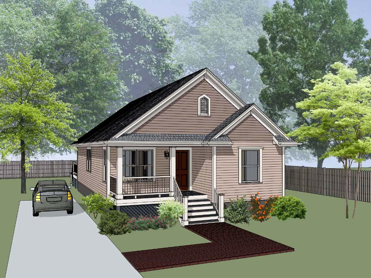 Bungalow, Cottage House Plan 75543 with 4 Beds, 2 Baths Elevation