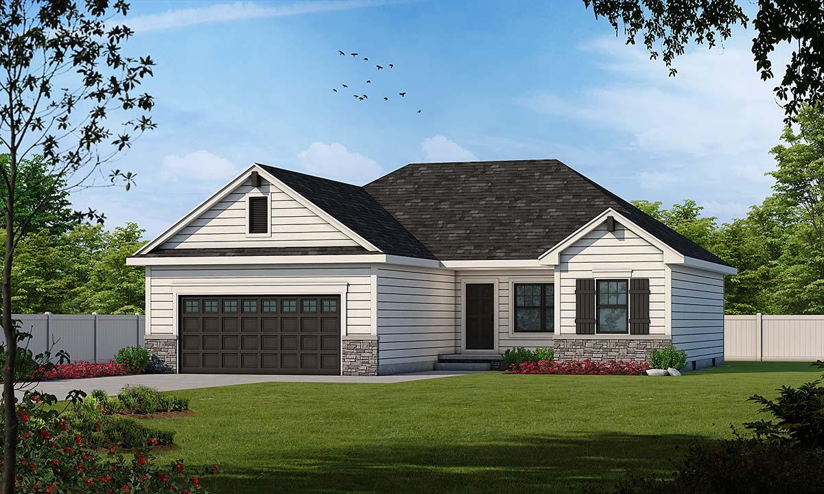 Craftsman, Traditional House Plan 75716 with 3 Beds, 2 Baths, 2 Car Garage Elevation
