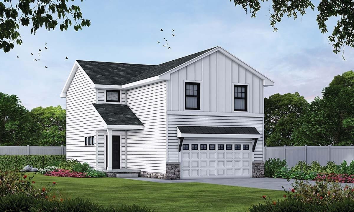 Craftsman, Farmhouse House Plan 75719 with 3 Beds, 3 Baths, 2 Car Garage Elevation