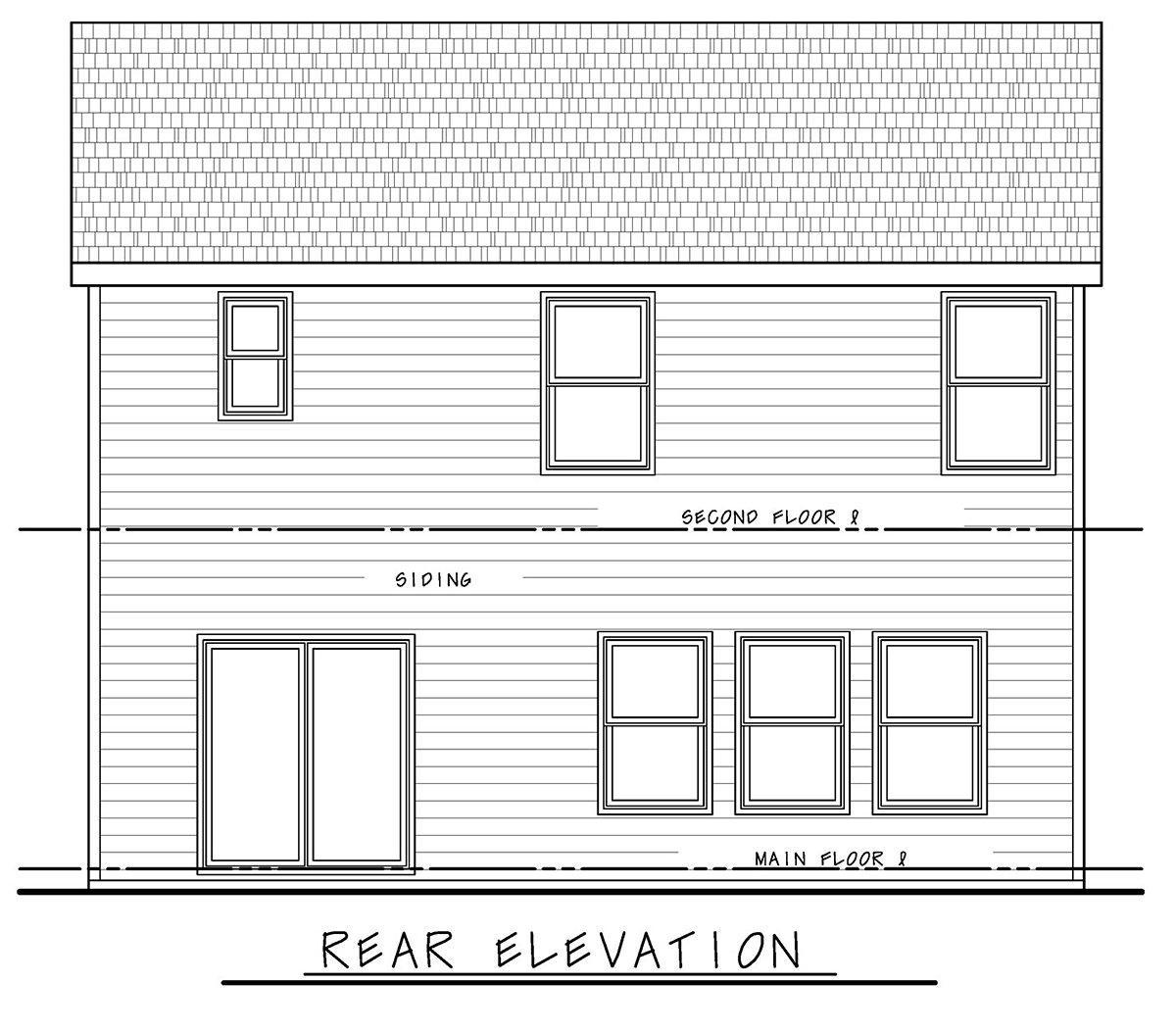 Craftsman, Farmhouse House Plan 75719 with 3 Beds, 3 Baths, 2 Car Garage Rear Elevation