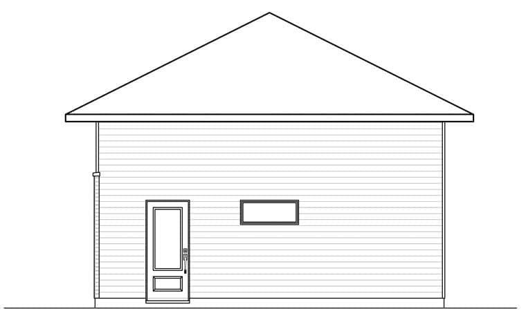Contemporary 2 Car Garage Plan 76378 Rear Elevation