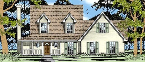 Country, Farmhouse House Plan 79157 with 3 Beds, 2 Baths, 2 Car Garage Elevation