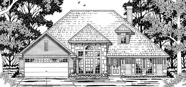 European, One-Story, Victorian House Plan 79197 with 3 Beds, 2 Baths, 2 Car Garage Elevation