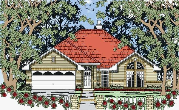 European, One-Story, Traditional House Plan 79262 with 3 Beds, 3 Baths, 2 Car Garage Elevation
