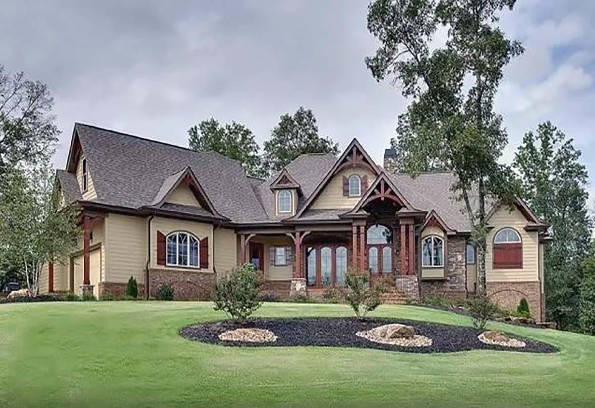 Country, Craftsman, Farmhouse, Ranch, Southern House Plan 80731 with 4 Beds, 4 Baths, 3 Car Garage Elevation