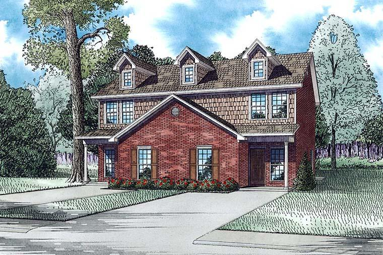 Colonial, Traditional Multi-Family Plan 82363 with 6 Beds, 6 Baths Elevation