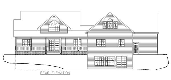 Cape Cod, Country, Traditional House Plan 85282 with 3 Beds, 2 Baths, 3 Car Garage Rear Elevation