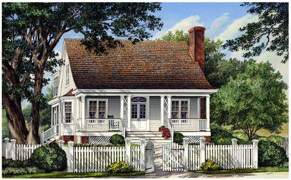 Cottage, Country, Farmhouse, Traditional House Plan 86105 with 3 Beds, 3 Baths, 2 Car Garage Elevation