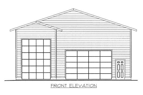 3 Car Garage Plan 86584, RV Storage Elevation