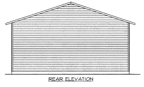 3 Car Garage Plan 86584, RV Storage Rear Elevation