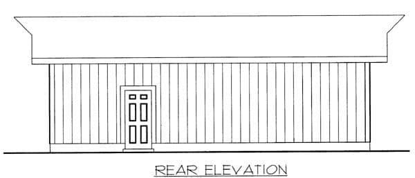 2 Car Garage Plan 87036 Rear Elevation