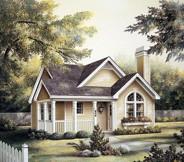 Country House Plan 87390 with 2 Beds, 2 Baths Elevation