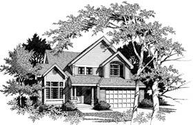 Country House Plan 91902 with 4 Beds, 3 Baths Elevation