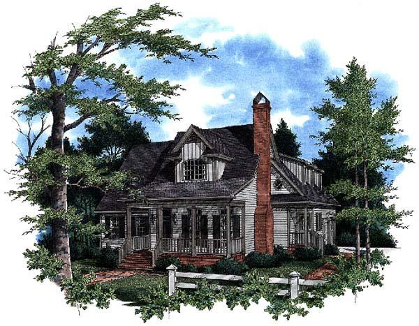 Country, European, Farmhouse House Plan 93450 with 3 Beds, 3 Baths, 2 Car Garage Elevation