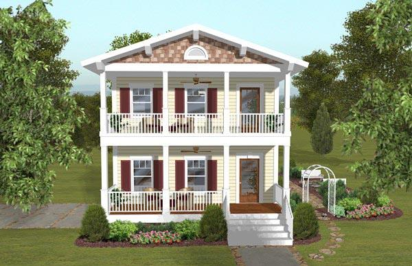 Colonial, Southern House Plan 93494 with 3 Beds, 4 Baths, 2 Car Garage Elevation