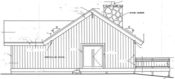 Cabin House Plan 94307 with 2 Beds, 2 Baths Rear Elevation