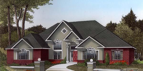 European, Tudor House Plan 96836 with 3 Beds, 2 Baths, 2 Car Garage Elevation