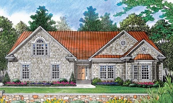 Cottage, Craftsman House Plan 96938 with 2 Beds, 2 Baths, 2 Car Garage Elevation