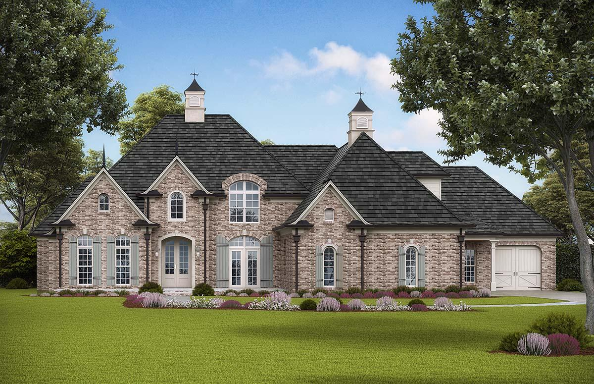 Traditional, Tudor House Plan 97681 with 4 Beds, 5 Baths, 3 Car Garage Elevation