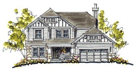 Bungalow, Craftsman House Plan 97931 with 4 Beds, 3 Baths, 2 Car Garage Elevation