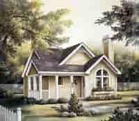 Plan Number 87390 - 1084 Square Feet