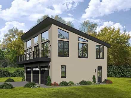 Garage-Living Plan 51589
