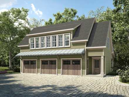 Garage-Living Plan 58287