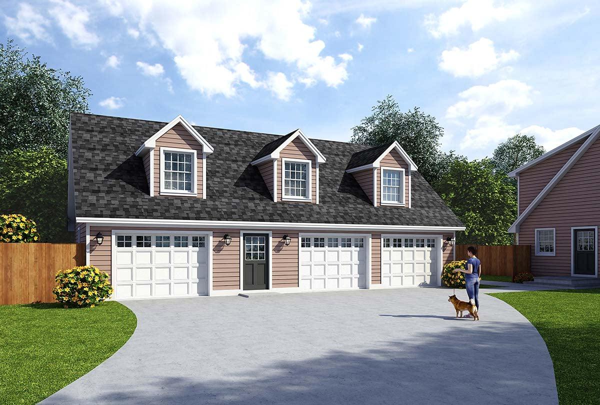 Garage-Living Plan 30034