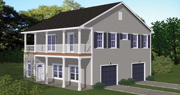 Garage-Living Plan 40693 with 2 Beds, 1 Baths, 2 Car Garage Elevation