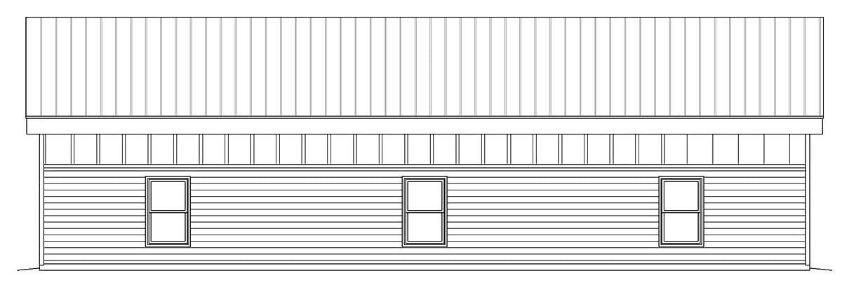 Contemporary, Modern 2 Car Garage Plan 40807, RV Storage Picture 1