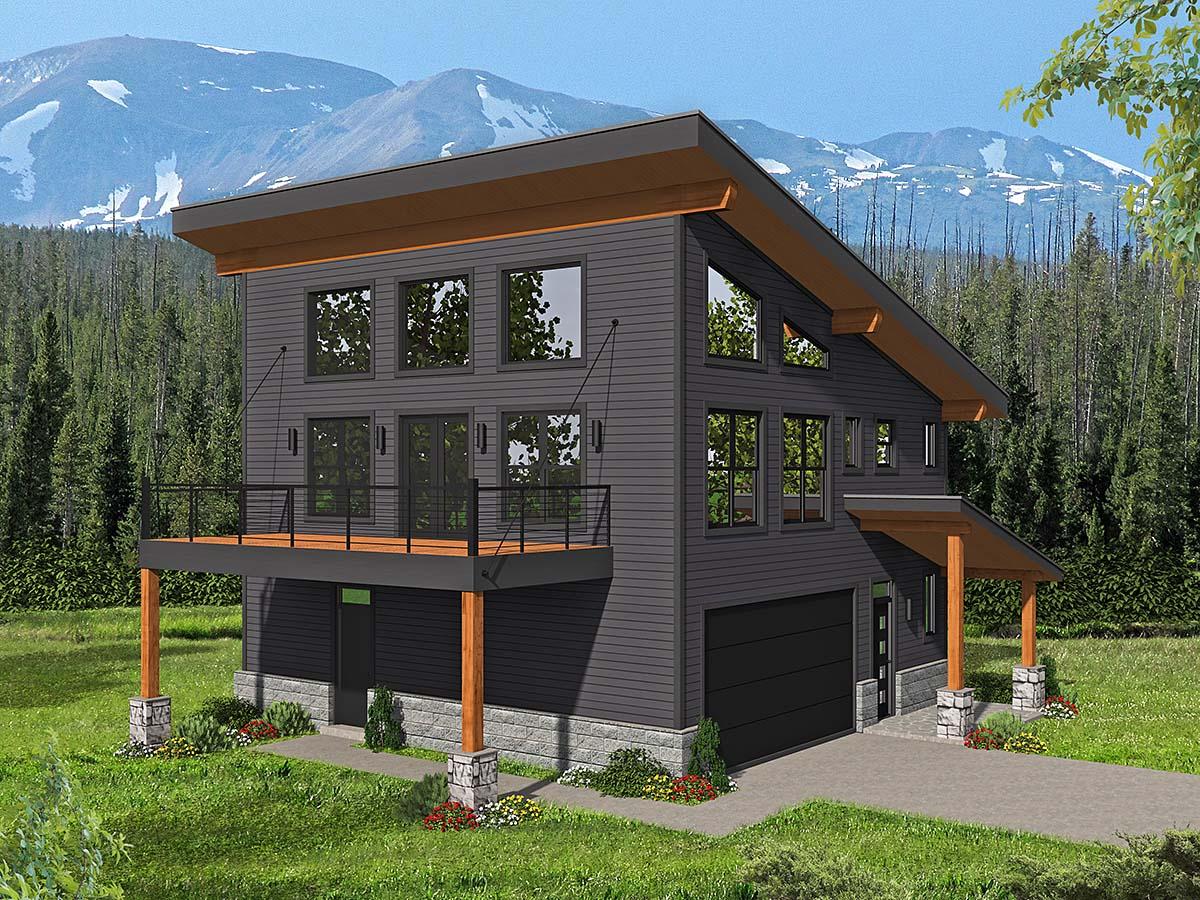 Garage-Living Plan 40837