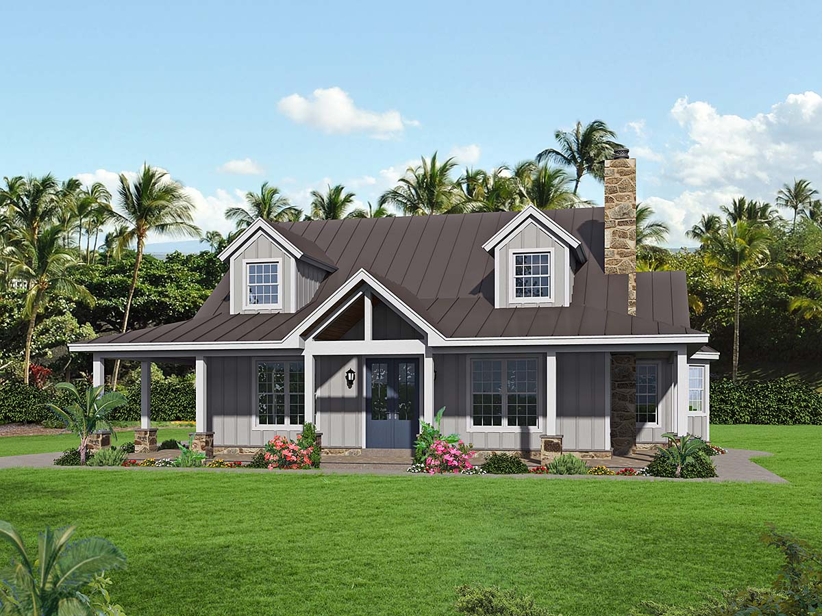 Bungalow, Cottage, Country House Plan 40847 with 3 Beds, 4 Baths Elevation