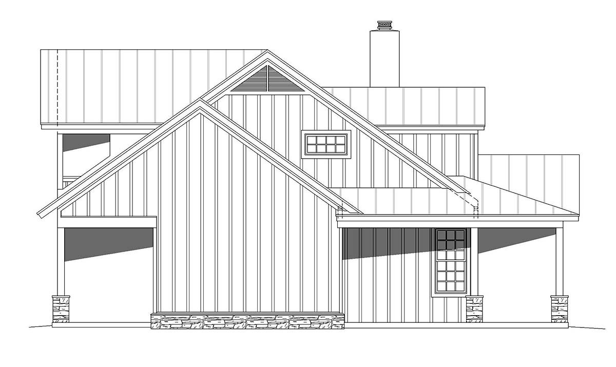 Bungalow, Cottage, Country House Plan 40847 with 3 Beds, 4 Baths Picture 2
