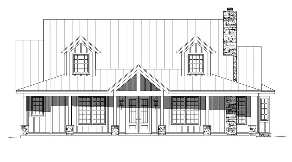 Bungalow, Cottage, Country House Plan 40847 with 3 Beds, 4 Baths Picture 3