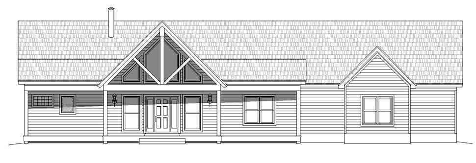 Country, Farmhouse, Ranch House Plan 40866 with 2 Beds, 2 Baths, 3 Car Garage Picture 3