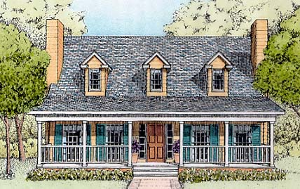 Country House Plan 41021 with 3 Beds, 3 Baths Elevation